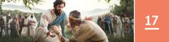 Oppijakso 17. Jeesus ojentaa kätensä ja parantaa sairaan miehen.