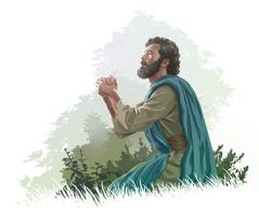 Jeesus rukoilee.