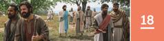 Lección 18. Jesús dándoles instrucciones a sus discípulos para que prediquen y enviándolos por parejas.