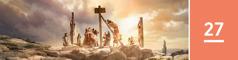 Oppijakso 27. Kuollutta Jeesusta otetaan pois paalusta.