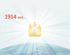 Jesus begynner å regjere over jorden fra sin himmelske trone i 1914evt. Lys skinner fra tronen hans.