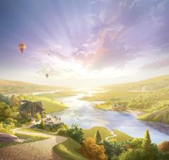 Personas viviendo en la Tierra hecha un paraíso.