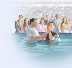 Raamattukurssioppilas menee kasteelle Jehovan todistajien konventissa.