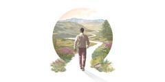 တောင်ကုန်းတောင်တန်း၊ သစ်ပင်ပန်းမန်တွေနဲ့ လှပနေတဲ့ အကွေ့အကောက်လမ်းပေါ် စလျှောက်နေတဲ့ အမျိုးသား။