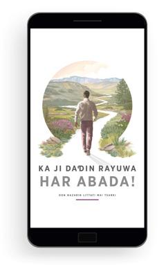 Ka Ji Dadin Rayuwa Har Abada!—Don Nazarin Littafi Mai Tsarki. Wani mutum ya soma tafiya a wata hanya mai kwana-kwana da ke kewaye da tuddai da furanni masu kyau.