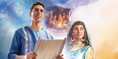 Mifananidzo: 1. Timoti akabata mupumburu. 2. Isaka naRibheka vakatarisa nyeredzi vaina Jakobho naIsau. 3. Mambokadzi Esteri.