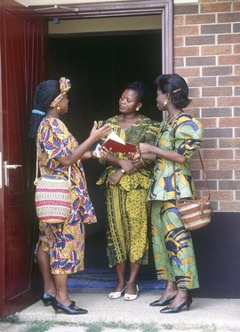 Jehovah's Witnesses preaching