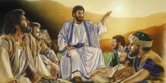 Jesus teaching his disciples
