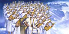 Jesus og hans medregenter hersker fra himmelen