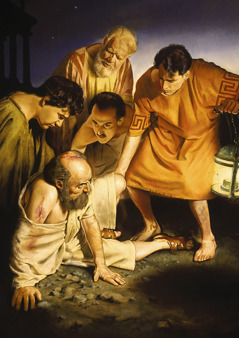 People helping the apostle Paul