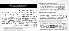 Božje ime u izvornom tekstu Biblije