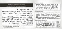 Ang ngalan sa Diyos sa orihinal nga mga manuskrito sa Bibliya