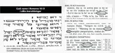 Guds namn i grundtexter av Bibeln