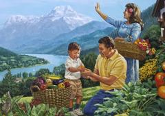 Щастливо семейство в рая