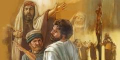Gesù che viene schiaffeggiato