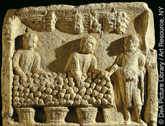 Relief of a fruit market