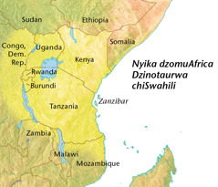 Mepu yenyika dzomuAfrica dzinotaurwa chiSwahili