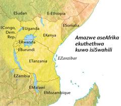 Imaphu yamazwe aseAfrikan ekuthethwa kuwo isiSwahili