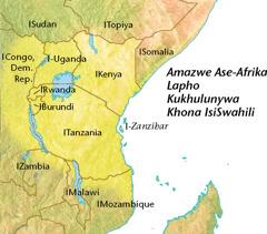 Ibalazwe lamazwe ase-Afrika lapho kukhulunywa khona isiSwahili