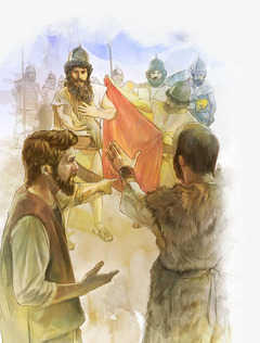Єлисей відмовляється від подарунків, які йому пропонує Нааман