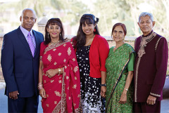 Nalini with her family