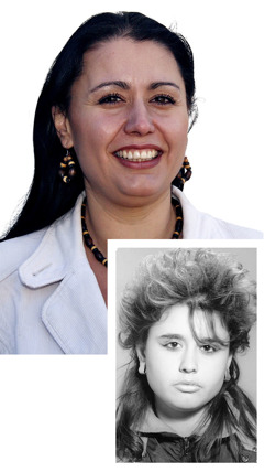 Nabiha Lazarova before and after studying the Bible