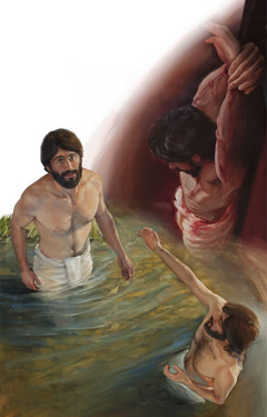 Jesus' baptism and his death