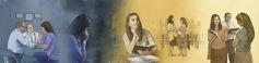 Քրիստոնյա կնոջը օգնություն է ցույց տրվում