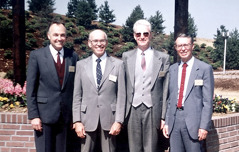 Richard, Bill, Lowell, and Ramon at the Selters branch dedication