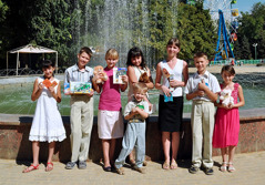 Children in Taganrog, Russia