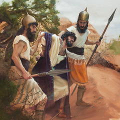 Manasseh being taken prisoner by the Babylonians