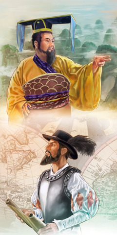 Chinese Emperor Qin Shi Huang and Spanish explorer Juan Ponce de León