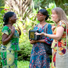 Anne-Rakel preaching in sign language in Togo