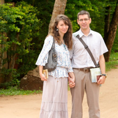 Johanna and Sébastien in the public ministry in Benin