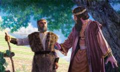 Illés találkozik Aháb királlyal Nábót szőlőjében