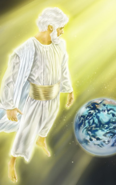 From heaven, Jesus considers the earth and all mankind in need of God's love