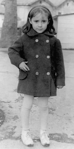 Maite in France, at age four