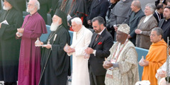 An interfaith gathering of multinational religious leaders