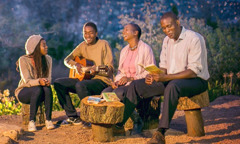 A family in South Africa singing Kingdom songs