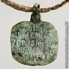 A Roman slave collar with a tag