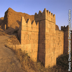 A rebuilt wall in Nineveh, a city formerly desolated