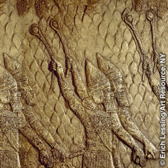 Bas-relief of the Assyrian slingers