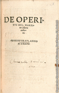 Title page from De Operibus Dei (On the Works of God)