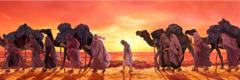 दासको रूपमा बेचिएका यूसुफ व्यापारीहरूको दलसित हिंड्दै