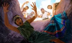 Braća bacaju Josifa u jamu i uzimaju njegovu haljinu