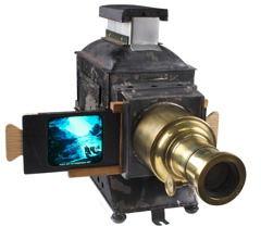 A gas-light projector