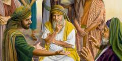 Im alten Israel wird einem Richter ein Rechtsfall vorgetragen