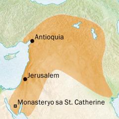 Mapa sa Antioquia ug Jerusalem diin Syriac ang pinulongan kaniadto