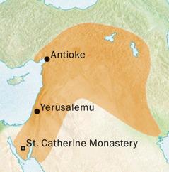 Mapu iilelanga incende shali mupepi na Antioke na Yerusalemu umo balelanda iciSyrica