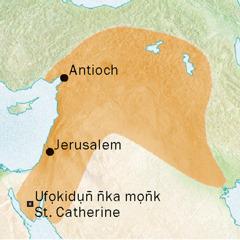 Map emi owụtde mbọhọ Antioch ye Jerusalem emi ẹkesemde usem Syriac